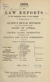 Queen S Bench Division The Law Reports Cases Determined In The Queen U0027s Bench Division