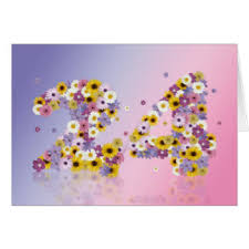 24th birthday greeting cards zazzle