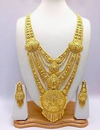 gold rani haar sets indian asian bridal jewellery ethnic wear 22k gold plated rani