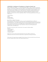 Contract Termination Notice 3 End Rental Agreement Letter Science Resume