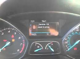 2013 ford focus check engine light 2013 ford escape oil life reset youtube