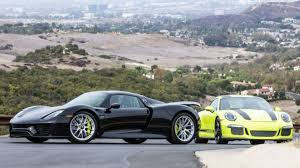 porsche 918 acid green this porsche 918 spyder and 911 r come as a matching set the drive