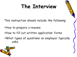 How To Fill A Resume Placing Wbl Students On The Job Before Any Student Is Sent Out To
