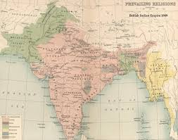 World Map Oldest by Prevailing Religions India 1909 Map India Religion