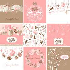 brown christmas cards set of pink and brown christmas cards royalty free cliparts vectors