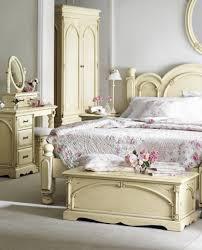 Antique Bedroom Vanity Elegant Decorating Ideas Using Rectangular Cream Wooden Headboard