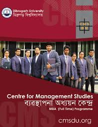 mba full time information brochure dibrugarh university by