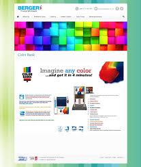 catalyst communication berger paints website design