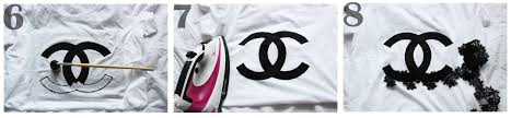 diy make your own chanel t shirt by natasha