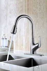 Kitchen Sink Fossett Purelux Tulip Single Handle Pull Down Kitchen Sink Faucet High Arc