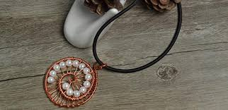 pendant wire necklace images How to make a wire wrapped pendant necklace with white pearl beads jpg