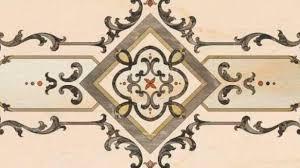 indoor tile floor marble floral central medallion hazem