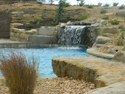 interior luxury bathroom accessories built in medicine cabinets blue haven pools shawnee and water features on pinterest kc grotto waterfall built into hillside liberal