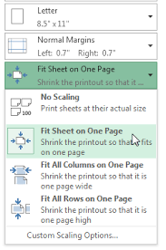 excel 2013 printing workbooks full page