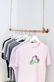 Schlafzimmerschrank Zum Selber Bauen Diy Kleiderstange Aus Kupferrohr Selber Bauen Diy Kleiderstange