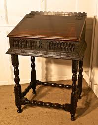 Reading Desk Stand by 17th Century Carved Oak Bible Box Reading Slope Desk On Stand