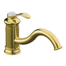 Polished Brass Kitchen Faucet by Kohler Fairfax Single Handle Standard Kitchen Faucet In Polished