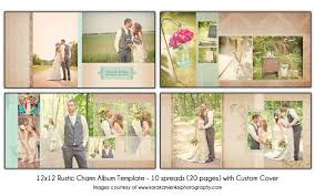 rustic wedding album rustic charm 12x12 wedding album template 10 spread