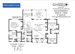 5 Bedroom Floor Plans 1 Story Silverton E House Plans By Garrell Associates Inc
