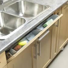 kitchen sink cabinet sponge holder tip out trays richelieu hardware