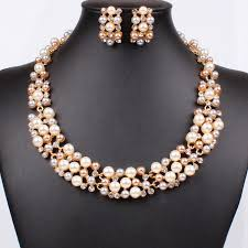 trendy necklace sets images Buy online necklace set ribbon shaped pendant set gold plated jpg