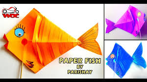 how to make paper fish step by step diy paper craft for kids