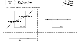 all worksheets worksheets on reflection and refraction of light