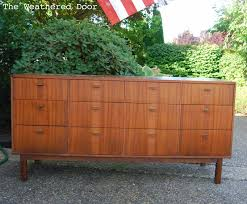 Midcentury Modern Buffet - before u0026 after mid century modern credenza with a glossy white