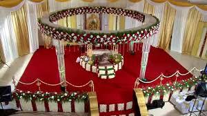 hindu wedding stage decoration in trivandrum rdr auditorium by