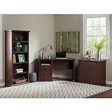 Bookcase With Filing Cabinet Amazon Com Yorktown L Shaped Desk With Hutch Lateral File