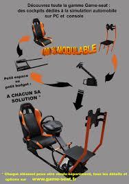 siege console de jeux seat supports volants et siège de jeu pour consoles et pc