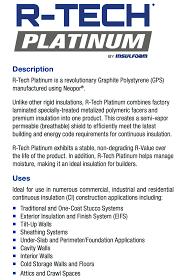 r tech platinum gps roof and deck insulation zero docs