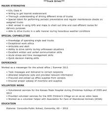 Sample Resume For Truck Driver by Sample Resume Truck Driver Template Examples