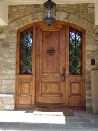 Unique Front Doors Exterior Amazing Wood Front Entry Door With Twin Sidelights And