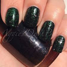 aggies do it better st patrick u0027s day nails chic black and green
