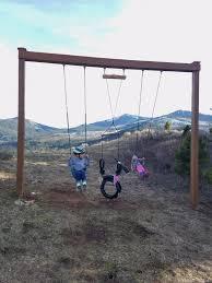 Pergola Swing Set Plans by Howdy Ya Dewit Homemade Backyard Swings