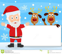 santa claus and reindeer banner stock images image 27056524