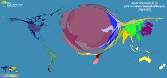 geographical map of germany to earth 32nd international geographical congress views of