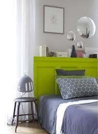 chambre ado vert déco chambre ado peinture couleur vert anis et gris