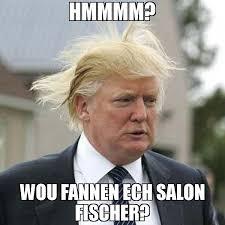 Salon Meme - hmmmm wou fannen ech salon fischer meme trump bad hair day