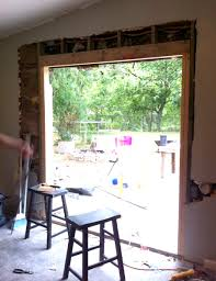 Framing Patio Door Install Patio Door In Brick Or Limestone Wall