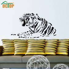 online get cheap removable wall adhesive aliexpress com alibaba dctop growling tiger wall art sticker animals vinyl adhesive removable wall stickers home decor for living