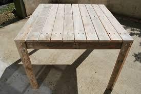 table de cuisine en palette table palette de bois