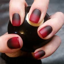 easy nail designs for short nails on dark red nails gallery