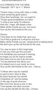 New Lyrics Time Song Lyrics For 40 Friends For The New