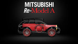 mitsubishi old models 1917 mitsubishi refitted with modern outlander plug in hybrid