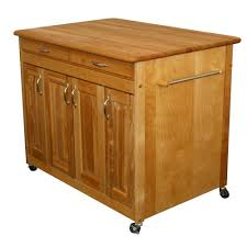 crosley white kitchen cart with stainless steel top kf30052wh natural kitchen cart with butcher block top