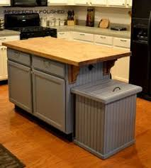 kitchen island with trash bin 8 sneaky ways to hide an trash can country chic tilt and