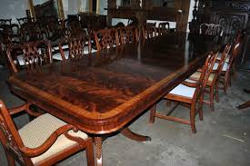 made flaming mahogany dining table over 13 ft long 15000 retail