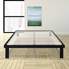 amazon com olee sleep 14 inch tall dura metal wood slat king bed